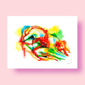 love & erotic art print