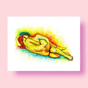love and erotic art print